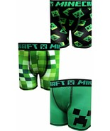 MIECRAFT CREEPER MOJANG 3-Pack Boxer Briefs Underwear NWT Boys Sz. 4 6 o... - $12.52