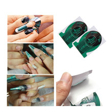 20 Nail Art Green Guide Forms UV Gel Acrylic Tips Manicure Stickers - $2.69