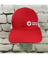 American Red Cross Red Ballcap Hat Vented Strapback - $14.84