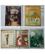 Vintage Partition de Musique 1911-1914 Assortis Lot Of 5 Songs - $28.57