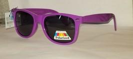 Classic Original Neon Purple Glare Blocking Polarized Sunglasses w Spring Hinges - $7.65