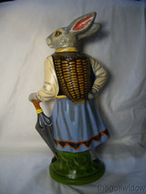 Vaillancourt Folk Art Large Lady Rabbit 12 in Beautiful Piece Signed image 2