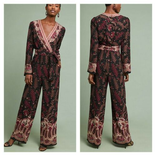 Anthropologie Breezeway Embroidered Jumpsuit by One September  $178  SMALL  - $73.26