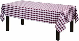 Table Cloth Burgundy & White Gingham Country Farm House, Picnic & More- ... - $29.00