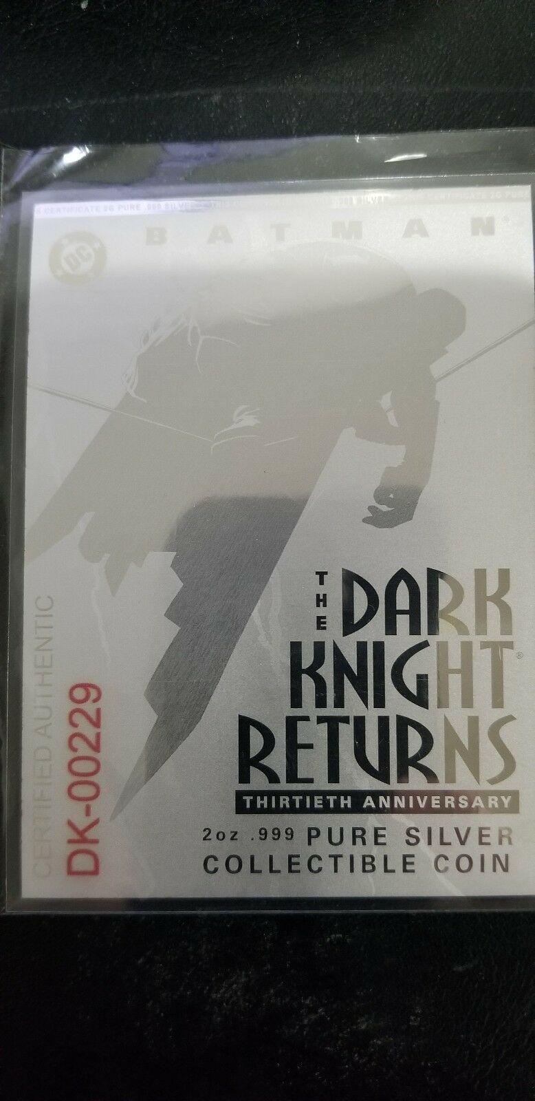 2016 2 oz. Proof Silver Batman: The Dark Knight Returns 30th Anniversary