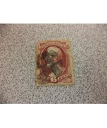 Red Vintage Lincoln 6 Cent Used Stamp - $7.34