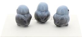 Hagen-Renaker Miniature Ceramic Bird Figurine Blue Tweetie Baby Tiny Chick Set 3 image 2