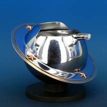 Art Deco 1939 Revere Saturn Syle Nickel Plated Brass & Copper Ash Tray Receiver image 2