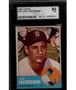 CARL YASTRZEMSKI 1963 Topps #115 Boston Red Sox Graded SGC 84 NM - $73.26