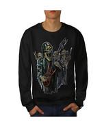 Guitar Metal Badass Skull Jumper Skull Show Men Sweatshirt - $18.99+