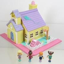 1993 Polly Pocket Light-up Schoolhouse Vintage Lot Bluebird Toys COMPLETE - $78.00
