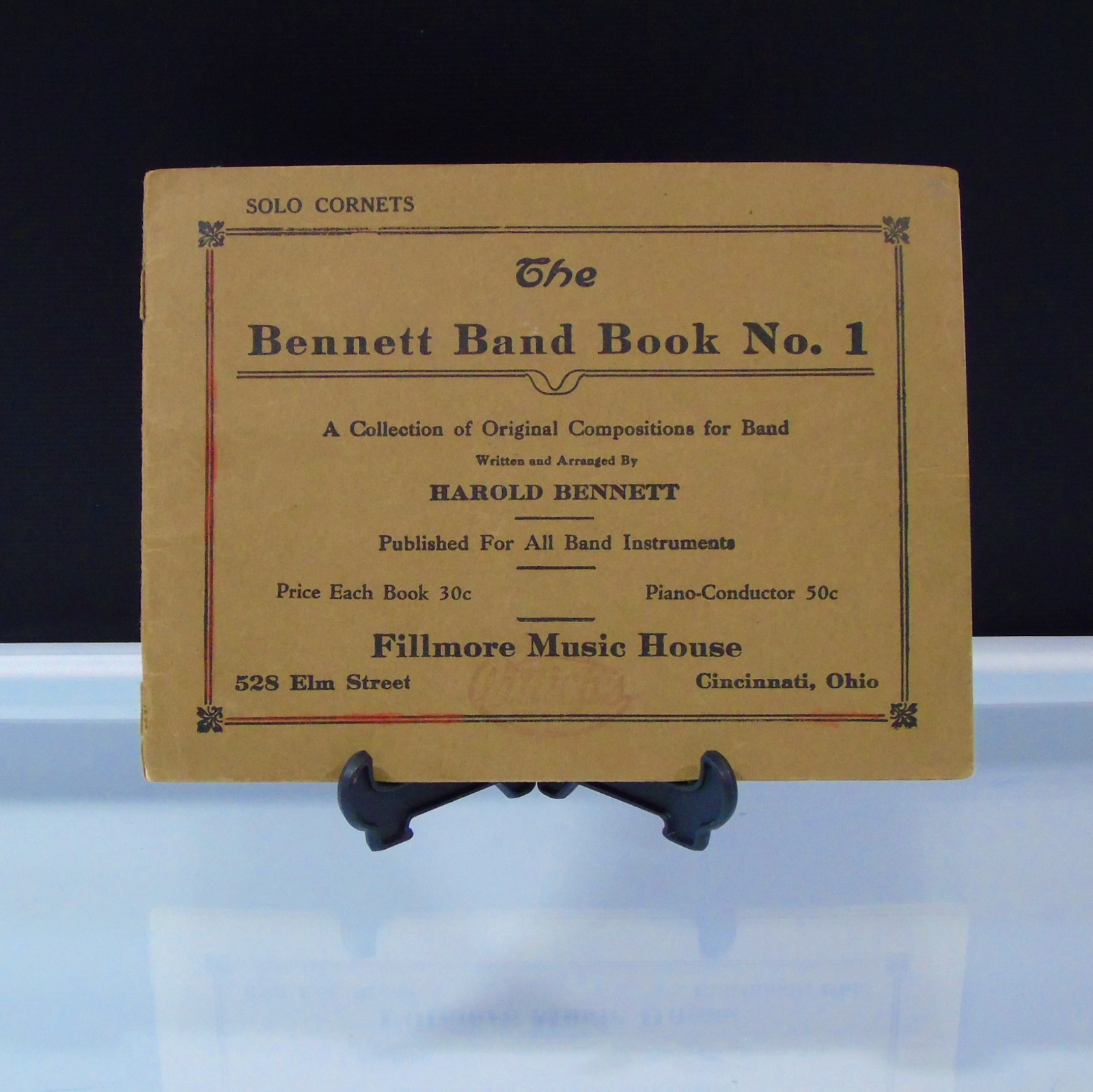 Sheet Music Solo Cornets 1923 The Bennett Band Book 1 Fillmore Music House OH