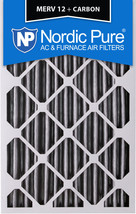 Nordic Pure 16x20x4 (3 5/8) Pleated Air Filter MERV 12 Pleated + Carbon 1 Pack - $27.09