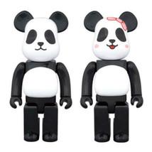 BE @ RBRICK Medicom Toy MILK PANDA Boy & Girl 400% Bear Brick 2 types set - $420.99