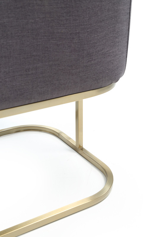 Modrest Yukon Modern White Fabric and Antique Brass Dining Chair