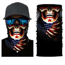 Crazy USA SKULL Winter Face Mask Bandanas Headband Neckwarme Multi Headwear - $4.94