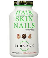 Purvana Hair Nail and Skin 90 Count New Convenient Size - $26.13