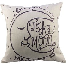 HOSL I Love You to The Moon and Back Square Decorative Throw Pillow Case... - $6.27