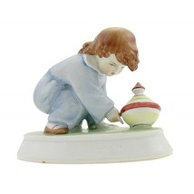 Hungarian Porcelain Vintage Zsolnay Girl Figurine - $42.21
