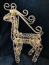 Gold Twisted Wire Reindeer Buck Christmas Deer Centerpiece Antlers Glitt... - $14.85