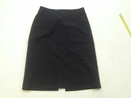 Banana Republic Pencil Skirt with Split Size 0 Black Womens Wool - $10.99