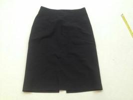 Banana Republic Pencil Skirt with Split Size 0 Black Womens Wool - $210,02 MXN