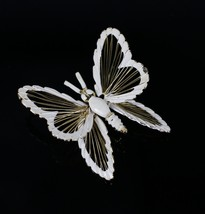 Vintage Gold Tone MONET Openwork Butterfly Signed Costume Jewelry Brooch... - $14.19