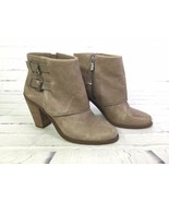Jessica Simpson Womens Size 9M Cainn Boots Booties Taupe Beige Ankle Fol... - $32.71