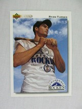 Ryan Turner Colorado Rockies 1992 Upper Deck Baseball Card 710 - $0.98