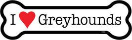 """I Heart (Love) Greyhounds Dog Bone Car/Fridge Magnet  2""""x7"""" USA Made Wat... - $4.99"""