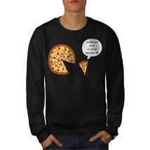 Pizza Slice On Diet Funny Jumper  Men Sweatshirt - $18.99+