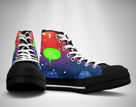 Rainbow Cat  Canvas Sneakers Shoes - $49.99