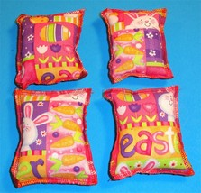 Cat Catnip Pillow Toy - Hand Made Easter Bunny Patterns Rectangle - 4 ea - $5.50