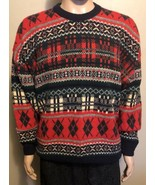 Men's Vintage James Pringle Weavers Lambswool Sweater Large Winter Chris... - $33.85