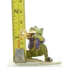 Hagen Renaker Miniature Frog Toadally Brass Band Trumpet Ceramic Figurine image 2