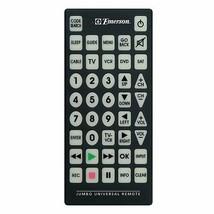 Emerson Jumbo Universal Remote for TV, DVD, Cable, Satellite, VCR - $16.82