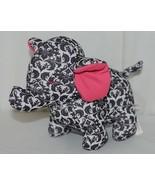 Baby Ganz Brand BG3192 Pink And Black Ooh La La Plush Filigree Elephant - $10.99