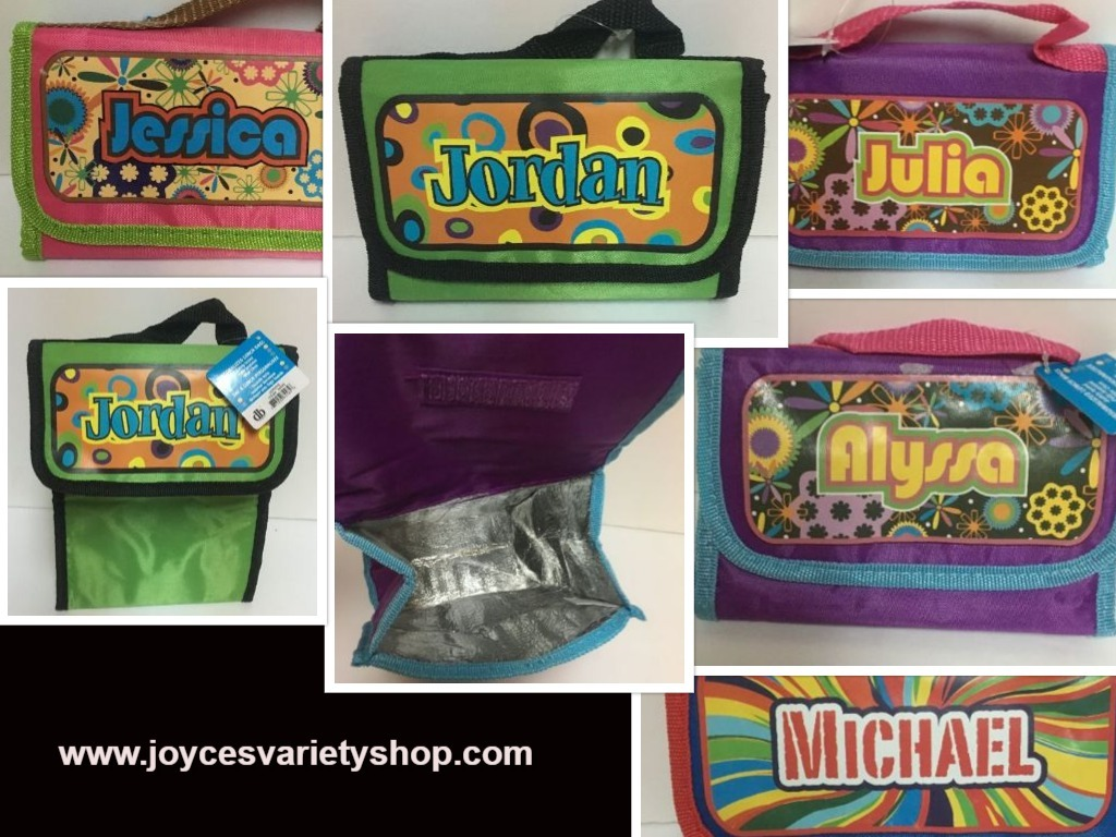 Primary image for Personalized Insulated Lunch Bag Fold Up Multiple Name Options