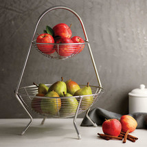 Tramontina Stainless Steel Non-Skid Clear Plastic Feet Fruit Basket - $49.49