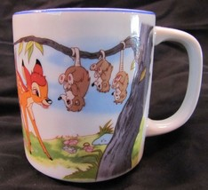 VINTAGE Disneyland Walt Disney World BAMBI THUMPER OWL FLOWER DRINKING M... - $18.32
