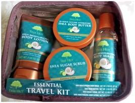 TREE HUT Intense Hydrating 4 pc + bag travel kit w shea butter & coconut... - $20.00