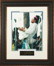 Jimi Hendrix unsigned 11X14 Photo Leather Frame... - $137.00