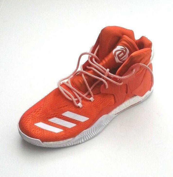 Adidas Men B38925 D Rose 7 Boost Primeknit Basketball Shoe Orange/White Size 16
