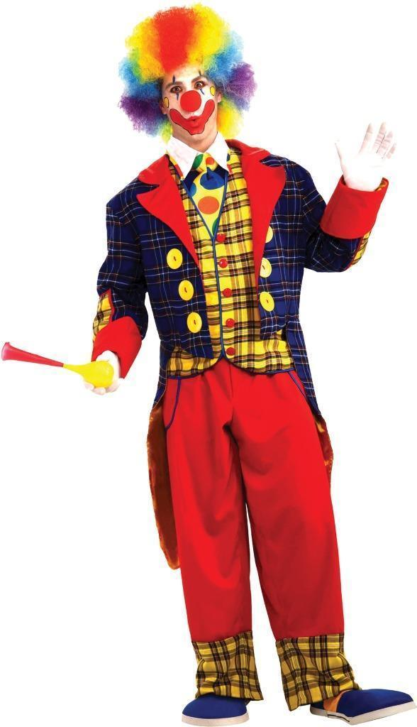 Checkers The Clown Costume Adult Funny Comical Halloween Childs Party FM65808