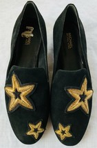 Michael Kors Womens shoes black leather upper rubber outsole embroidery size 6.5 - $47.99