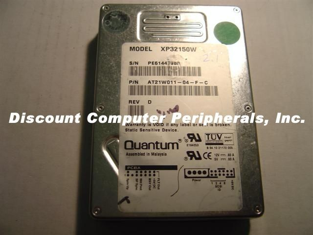 XP32150W 4 In stock Quantum 2.1GB 3.5in SCSI 68PIN Drive Tested Free USA Ship