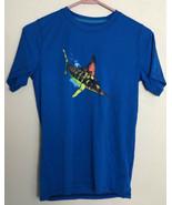 Magellan Outdoors Boys Blue Shirt L (14/16) Fish Gear Short sleeve - $7.84