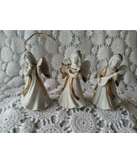 Homco Ceramic Decorative Holiday Figurative Angels Set of 3 Ornaments - $12.60