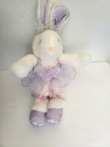 MTY International Ballet Bunny Rabbit Plush Stuffed Animal Purple - $29.68