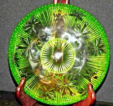 Green Candy Floral Dish Depression Glass AA19-CD0026 Vintage image 3
